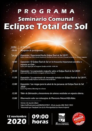 Charla Eclipse Solar 2020 para la Municipalidad de Nueva Imperial