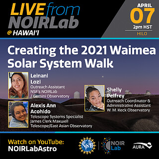 Creating the 2021 Waimea Solar System Walk