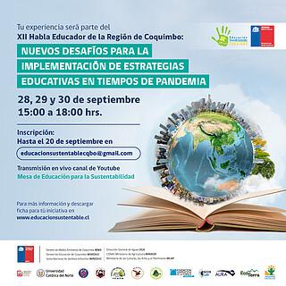 """Día 3: XII Seminario Habla Educador """"Nuevos Desafíos para la implementación de estrategias educativas en tiempos de Pandemia"""