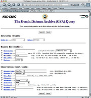 Gemini Science Archive User Interface