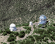 Aerial view of WIYN 0.9-meter Telescope and WIYN 3.5-meter Telescope