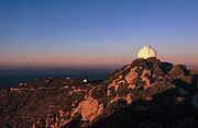 WIYN 0.9 Meter Telescope at sunset on Kitt Peak National Observatory