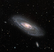 Wide View of Spiral Galaxy Messier 106