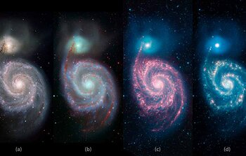 A Whirlpool Warhol:The Changing Face of Galaxies from the Visible to the Infrared