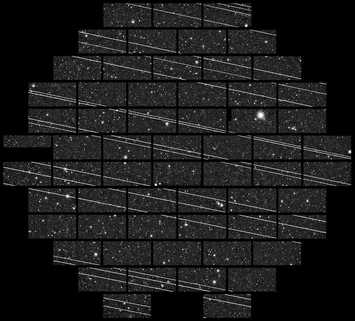 Starlink Satellites Imaged from CTIO