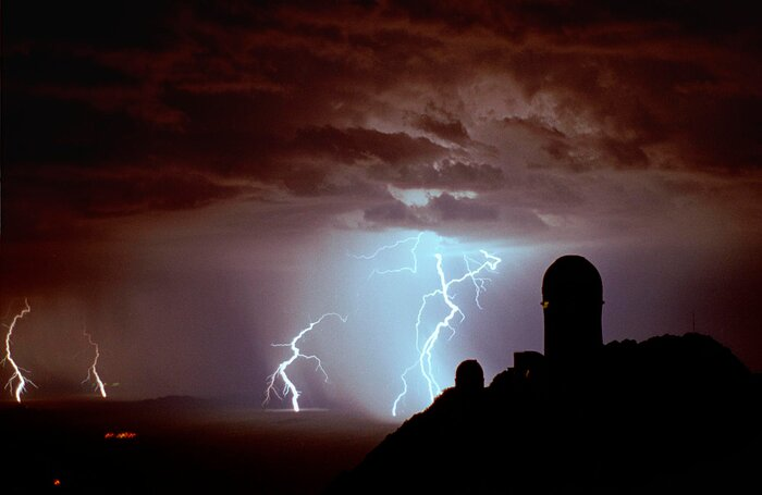 Lightning at Kitt Peak