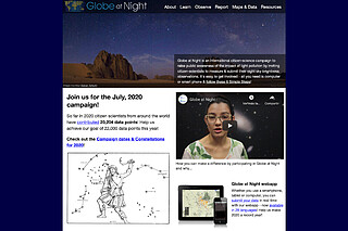 Minisite: Globe at Night