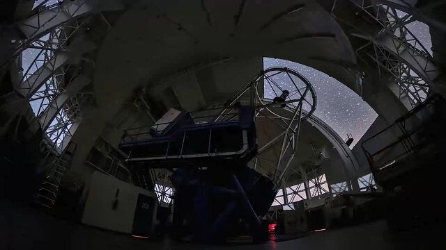 Time-lapses from inside the Gemini North dome