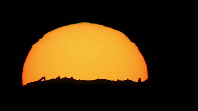 Sunset over Kitt Peak National Observatory