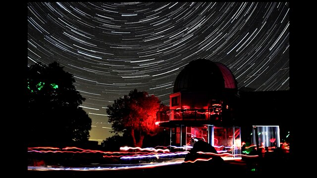 Star Trails over the Kitt Peak Visitor Center