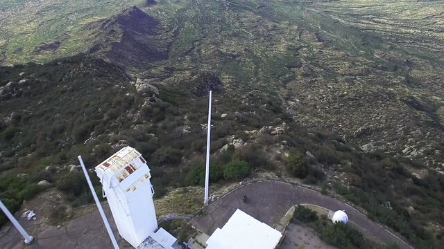 Aerial footage of the McMath-Pierce Solar Telescope