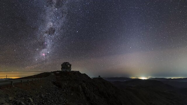 A night of observing at Cerro Pachón