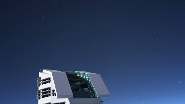 Animation of LSST facility transitioning from day to night