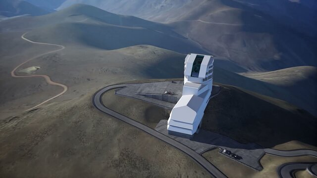 Animation of LSST facility at Cerro Pachon