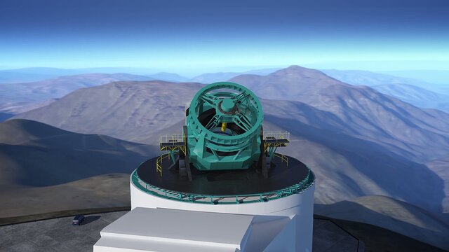 Animation of LSST telescope with dome removed