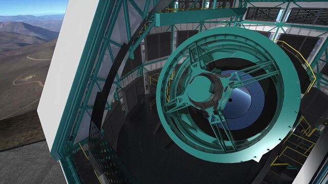 Animation of LSST rotating
